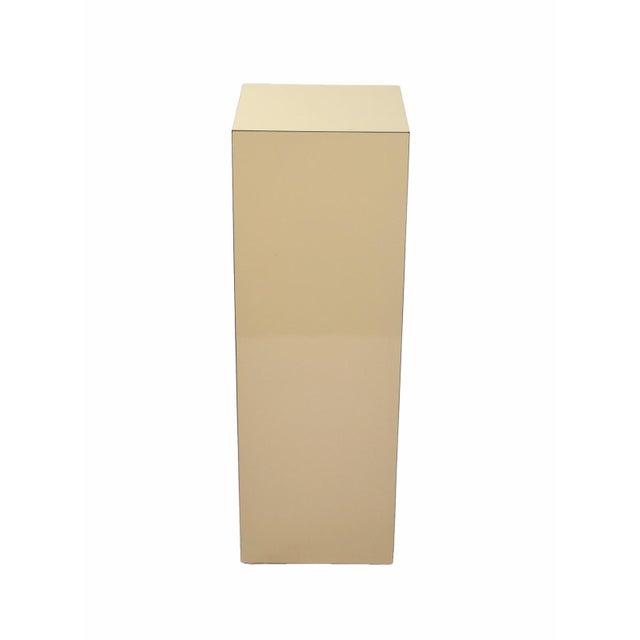 Modern Vintage Modern Beige Pedestal Sculpture Plant Stand For Sale - Image 3 of 6