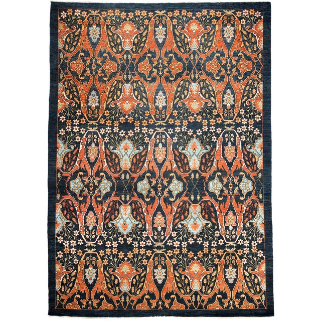 """Ziegler Hand Knotted Area Rug - 9'0"""" X 12'2"""" For Sale"""