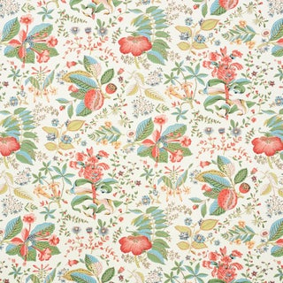 Schumacher Pomegranate Botanical Wallpaper in Document (8 yards) For Sale
