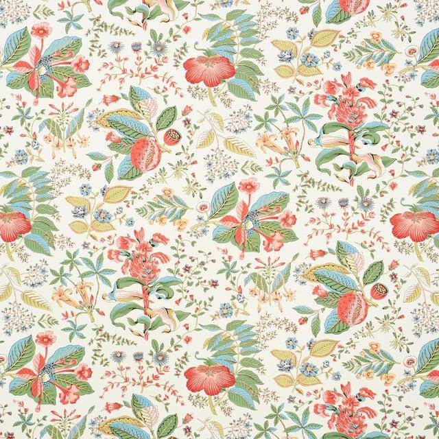 Schumacher Pomegranate Botanical Wallpaper in Document (8 yards) For Sale