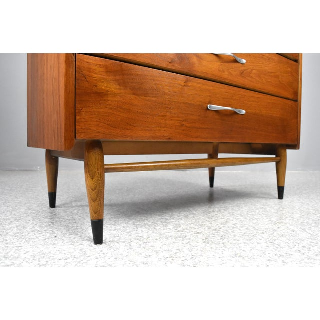 Aluminum Mid-Century Modern Highboy Chest by Lane Acclaim For Sale - Image 7 of 13