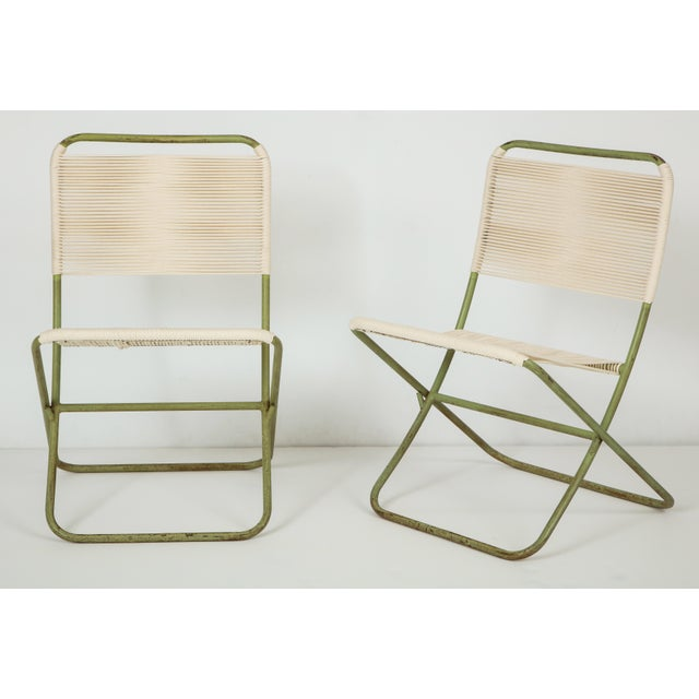 Contemporary 1950s Greta Grossman Folding Chairs - a Pair For Sale - Image 3 of 13