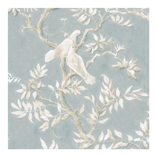 Lewis & Wood Doves Rock Dove Extra Wide Printed Wallpaper Sample For Sale
