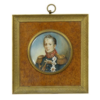 Admiral Portrait Miniature Painting, Possibly Horatio Nelson For Sale