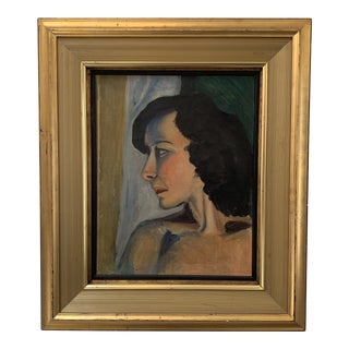 Mid-Century Female Study Oil Painting For Sale