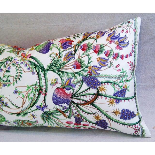Designer Italian Gucci Floral Fanni Silk Pillow - Image 5 of 11