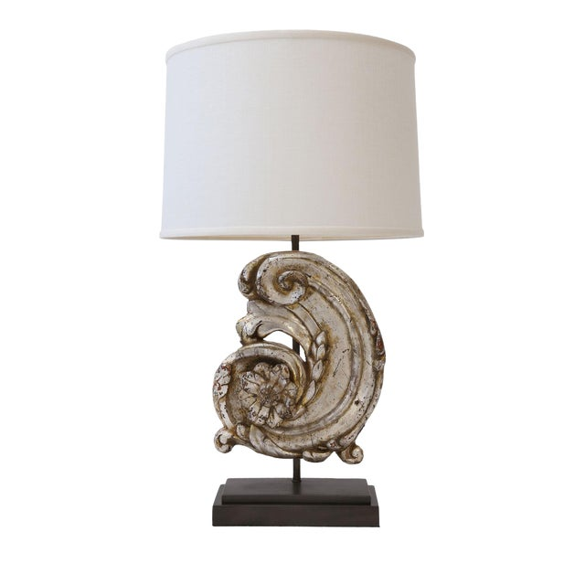Silver Gilt Custom Lamp For Sale