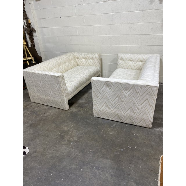 70s Contemporary Loveseats - a Pair For Sale - Image 4 of 13