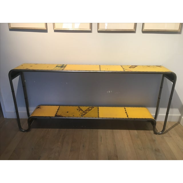 Industrial Salvaged Steel Console - Image 2 of 9