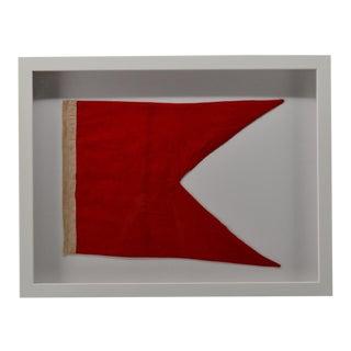 """Framed Beach House Decor """"B"""" Signal Flag For Sale"""