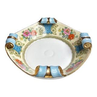 Vintage Art Deco Noritake Morimura Floral Scroll Porcelain Serving Bowl For Sale