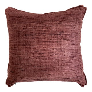 Groundworks Lee Jofa Sonoma Raisin Pillows With Butterfly Corners For Sale