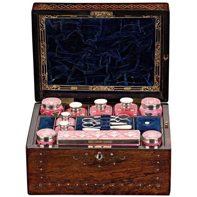 Blue Victorian Nécessaire de Voyage For Sale - Image 8 of 8