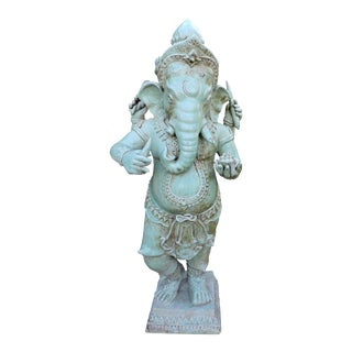 Rare Celadon Glazed Ceramic Ganesh For Sale