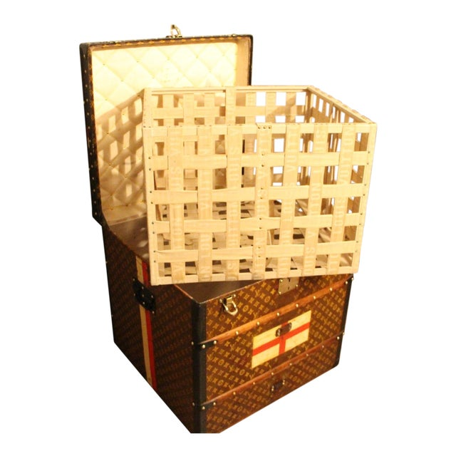 Louis Vuitton Cube Steamer Trunk For Sale