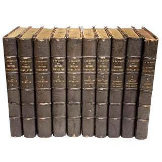 Alfred De Musset, Books, Ceuvres Completes - Set of 10 For Sale