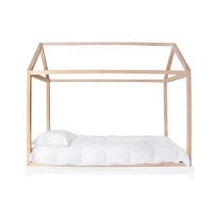 Domo Twin Canopy Bed in Maple For Sale