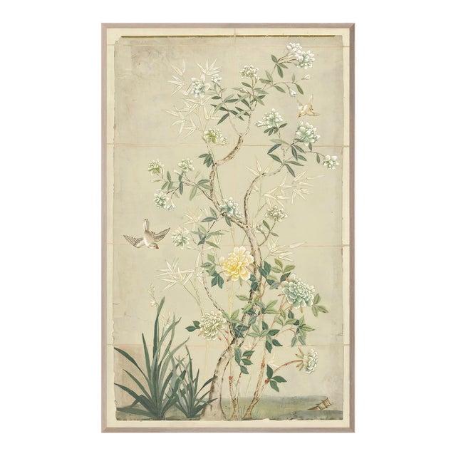 Chinoiserie Framed Textile Art For Sale