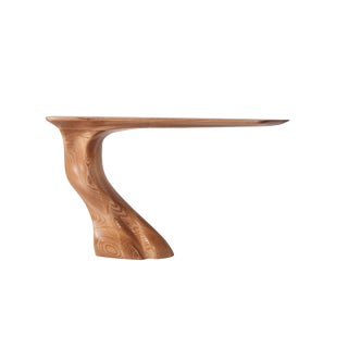 Frolic Honey Finish Console Table For Sale
