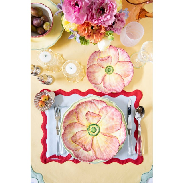Moda Domus x Chairish Exclusive Dessert Plates in Green, Yellow, and Pink - Set of 6 For Sale - Image 10 of 10