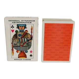 Vintage Mid Century Pop Art Astronatics Playing Cards