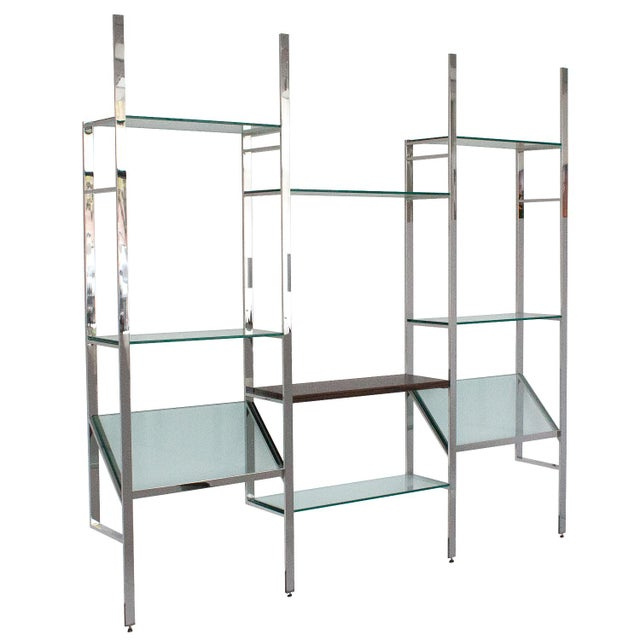 Milo Baughman Wall Mounted Shelving System - Image 3 of 10