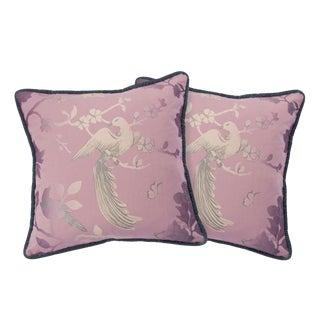 BirdSong Blush Pink Pillows - A Pair