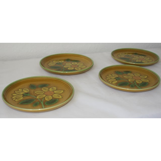 Vintage Metlox Poppytrail California Pottery Luncheon Plates - Set of 4 - Image 2 of 7