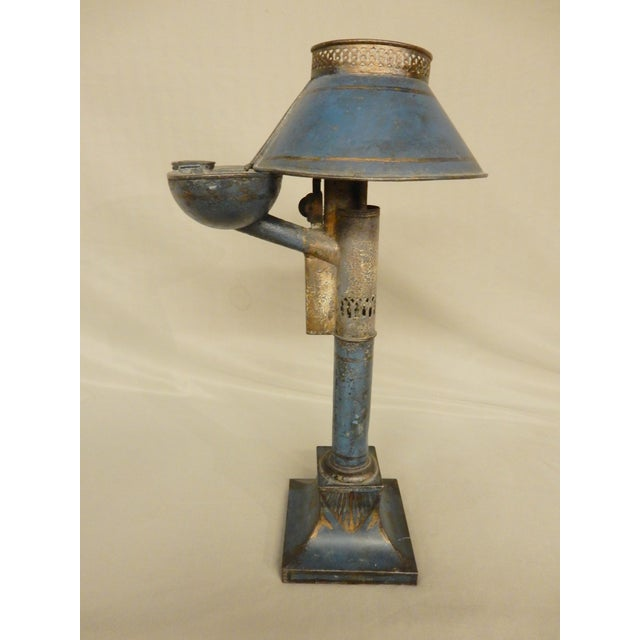 Early 19th Century French Tole Oil Lamp For Sale In New Orleans - Image 6 of 6