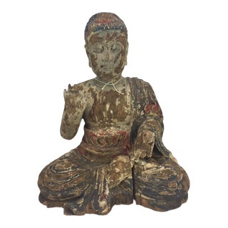 Antique Wooden Buddha For Sale