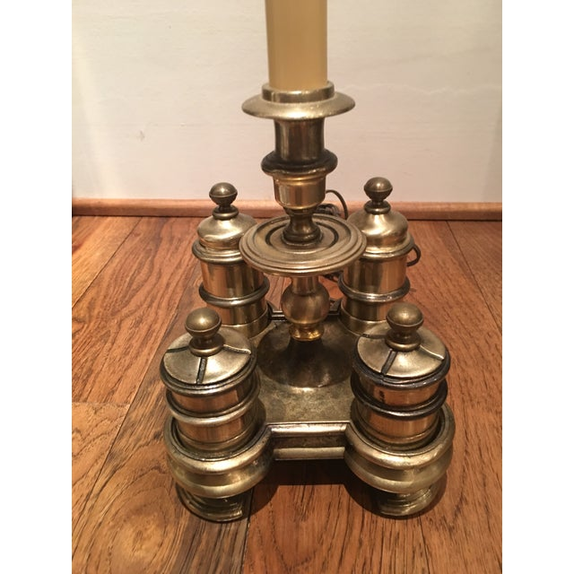 Knob Creek Brass Lamp For Sale - Image 4 of 11