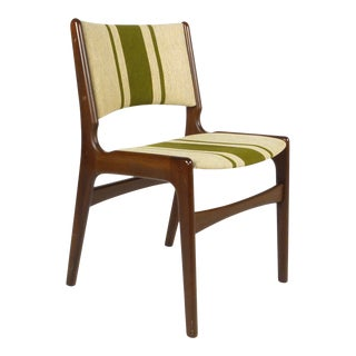 Henning Kjaernulf Side Chair With Original Wool Upholstery For Sale