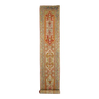 Antique Turkish Oushak Runner, 23' Extra Long Hallway Runner For Sale