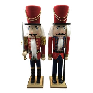 Tall Vintage Nutcrackers, Pair For Sale