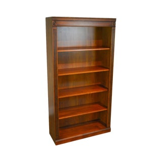 Ethan Allen British Classics Collection Maple Open Bookcase For Sale