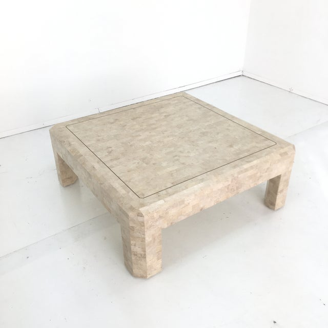 Art Deco Maitland Smith Tessellated Stone Coffee Table For Sale - Image 12 of 13