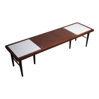 American of Martinsville Mid-Century Modern Tile Inlay Coffee Table For Sale