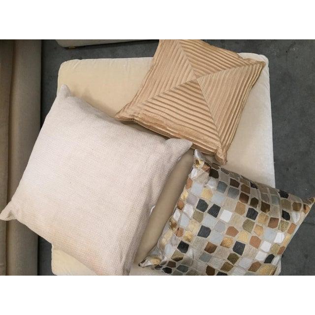 Astonishing Custom Mohair Sectional Sofa Ottoman Ibusinesslaw Wood Chair Design Ideas Ibusinesslaworg