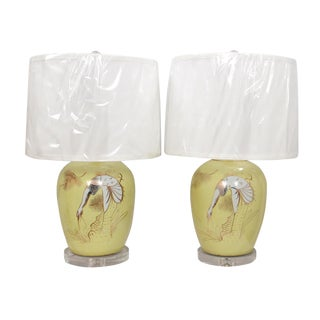 Hand Painted Chinoiserie Table Lamps - a Pair For Sale