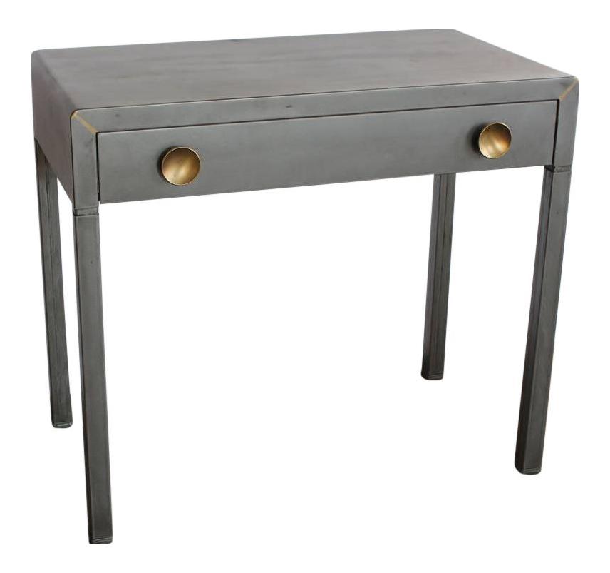 vintage industrial simmons metal side table. 1920s Simmons Industrial Metal Desk Vintage Side Table