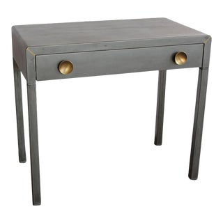 1920s Simmons Industrial Metal Desk For Sale