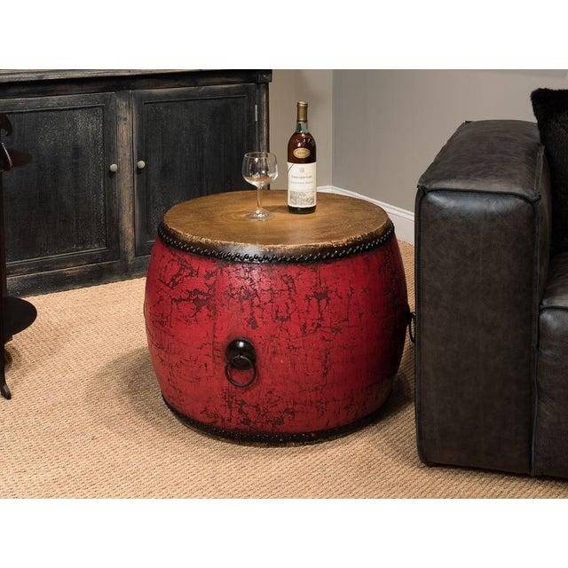 Sarreid Ltd. Red Drum Side Table - Image 3 of 3
