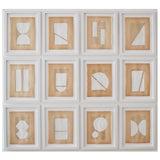 Image of Josh Young Design House - 12 Piece Blanc Géométrique Collection For Sale