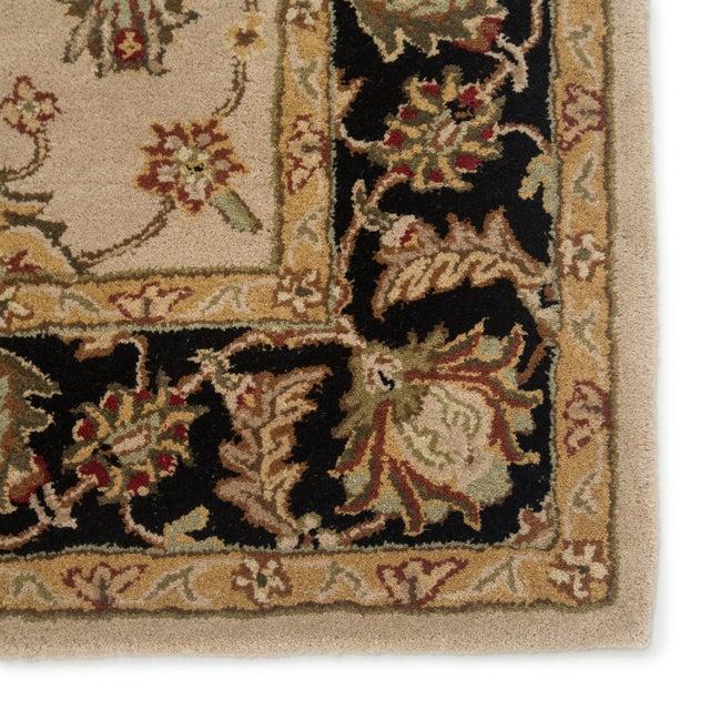 Contemporary Jaipur Living Selene Handmade Floral Beige Black Round Area Rug 8'X8' For Sale - Image 3 of 5