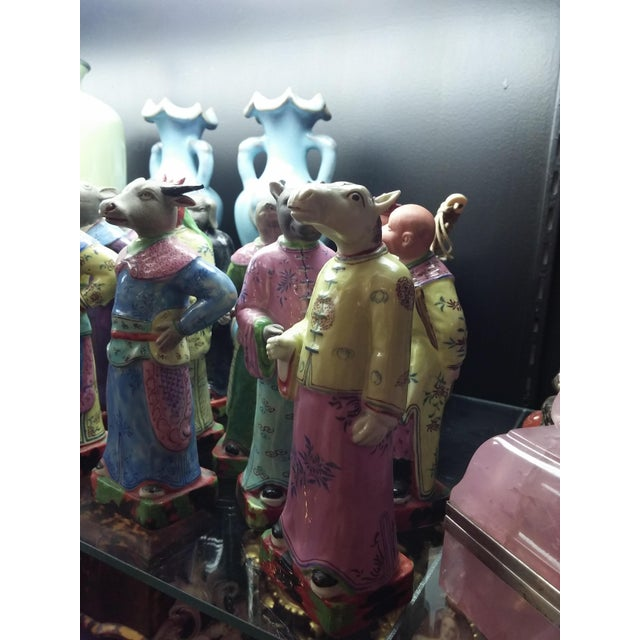Vintage Chinese Zodiac Porcelain Figurines - Set of 12 - Image 8 of 9