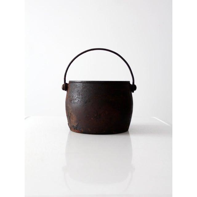 Antique Cast Iron Pot For Sale - Image 5 of 9