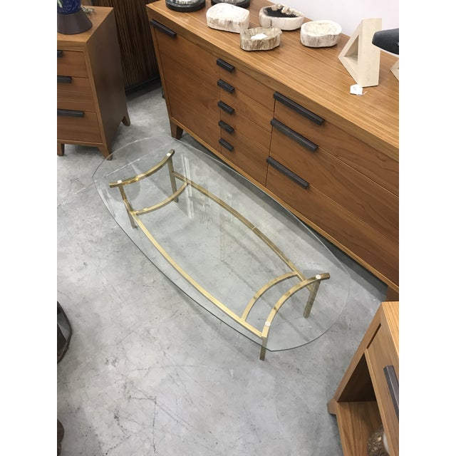 Gold 1970s Vintage Italian Brass Coffee Table For Sale - Image 8 of 9