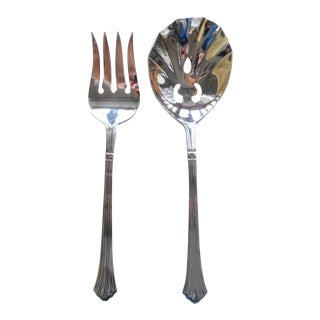 Retroneau Barrintgon Stainless Serving Utensils - a Pair For Sale