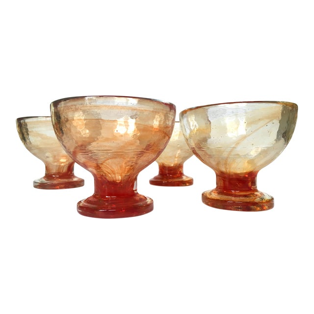 Art Glass Compote Dishes- Set of 4 - Image 1 of 5