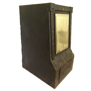 Toleware General Store Tea Bin with Mirror